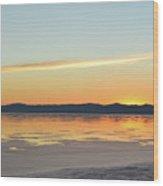 Great Salt Lake At Sunset 4 Wood Print