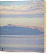 Great Salt Lake Pastel Morning Wood Print