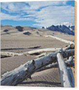Great Sand Dunes National Park Driftwood Landscape Wood Print