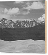 Great Sand Dunes Panorama 1 Bw Wood Print by James BO  Insogna