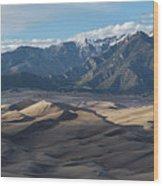 Great Sand Dunes Panorama Wood Print