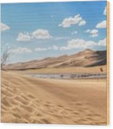 Great Sand Dunes Wood Print