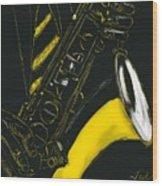 Great Sax Wood Print