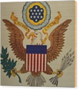 Great Seal Of The United States Of America Wood Print