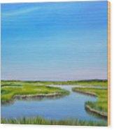 Great Sippewisset Marsh Wood Print