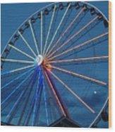 Great Smoky Mountain Wheel Wood Print