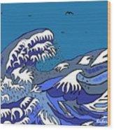 Great Wave 2011 Wood Print