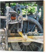 Great Western 90 Wheel Closeup Wood Print