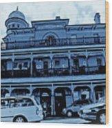 Great Western Perth Cyan Wood Print