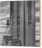 Great Western Sugar Mill Longmont Colorado Bw Wood Print