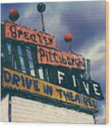 Greater Pittsburgh Five Drive-in Wood Print