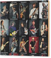 Greatest Guitarists Of All Time Wood Print