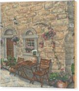 Grecian Charm Wood Print by Marsha Elliott