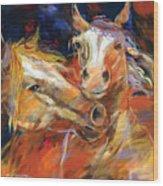 Grecos Horses Wood Print