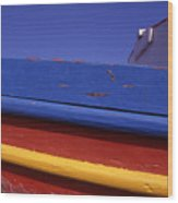 Greece. Colorful Fishing Boat Wood Print