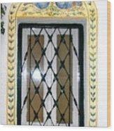 Greece Decorative Window Wood Print