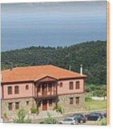 Greece Summer Vacation Landscape Wood Print