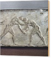 Greece: Wrestlers Wood Print