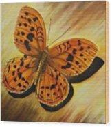 Greek Butterfly Wood Print