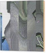 Greek Columns Wood Print