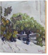 Greek Grapes Wood Print