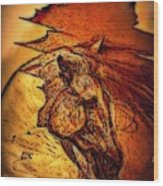 Greek Horse Wood Print by Paulo Zerbato