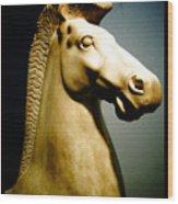 Greek Horse Statue Wood Print