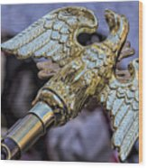 Greek Independence Day 4_10_16 Brass Eagle Wood Print