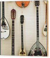 Greek Instruments Wood Print