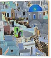 Greek Isle Of Santorini Wood Print
