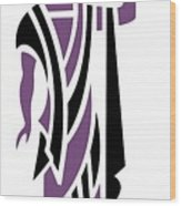 Greek Man In Purple Wood Print