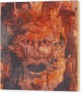 Greek Mask 8 Wood Print