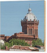 Greek Orthodox College Dome Wood Print
