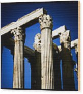 Greek Pillars Wood Print