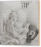 Greek Pottery Wood Print