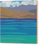 Greek Sea Wood Print