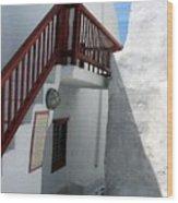 Greek Staircase Wood Print