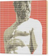 Greek Statue #2 - Orange Wood Print