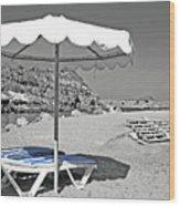 Greek Umbrella Wood Print