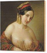 Greek Woman Wood Print