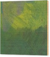 Green Abstract 1 Wood Print