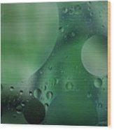 Green Abstract Wood Print