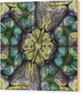 Green And Blue Stones 2 Wood Print