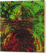 Green And Red Wood Print