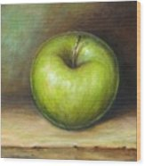 Green Apple Wood Print by Mirjana Gotovac