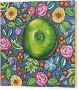 Green Apple Wood Print