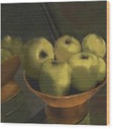 Green Apples Wood Print by Sydne Archambault