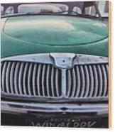Green Austin Healey In Drive Wood Print