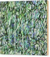 Green Bamboo Tree In A Garden Wood Print