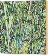 Green Bamboo Tree Wood Print